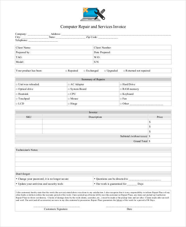 37 Invoices In Pdf