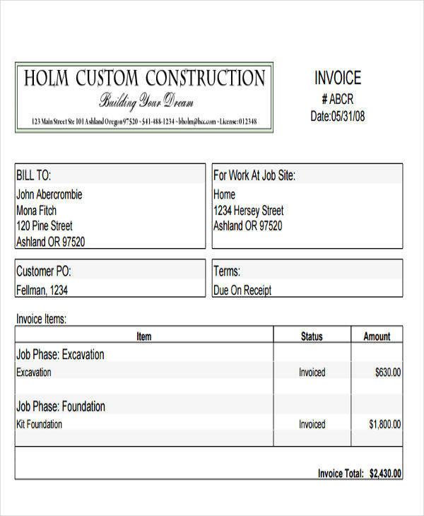 construction company invoice1