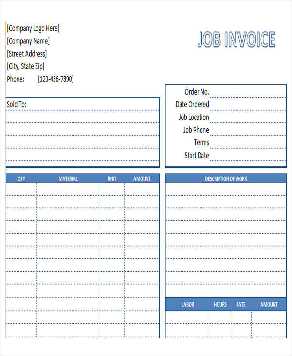construction job invoice1