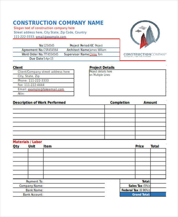 construction work invoice3