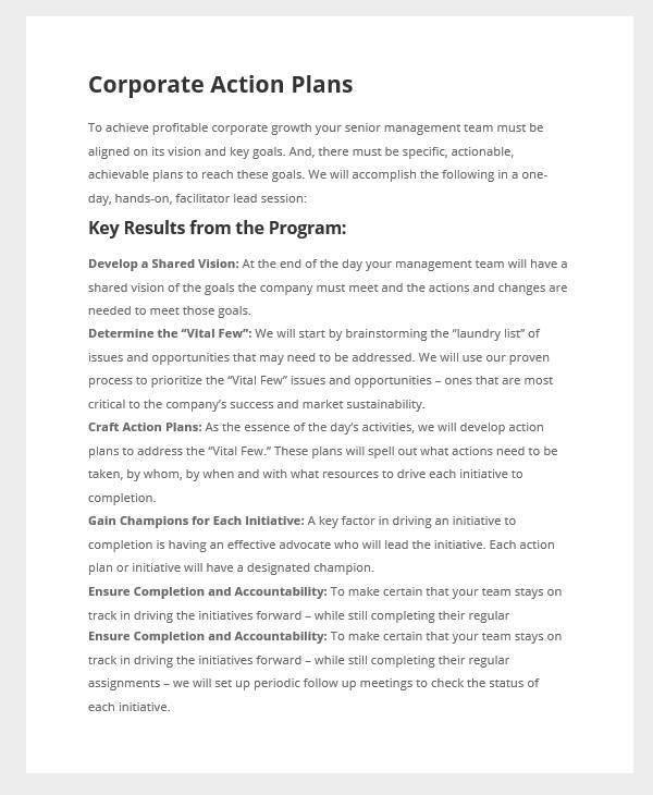 corporate sales action plan1