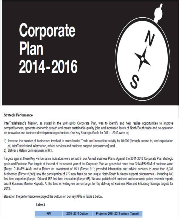 corporate sales plan
