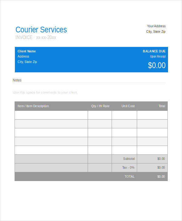 courier service bill1