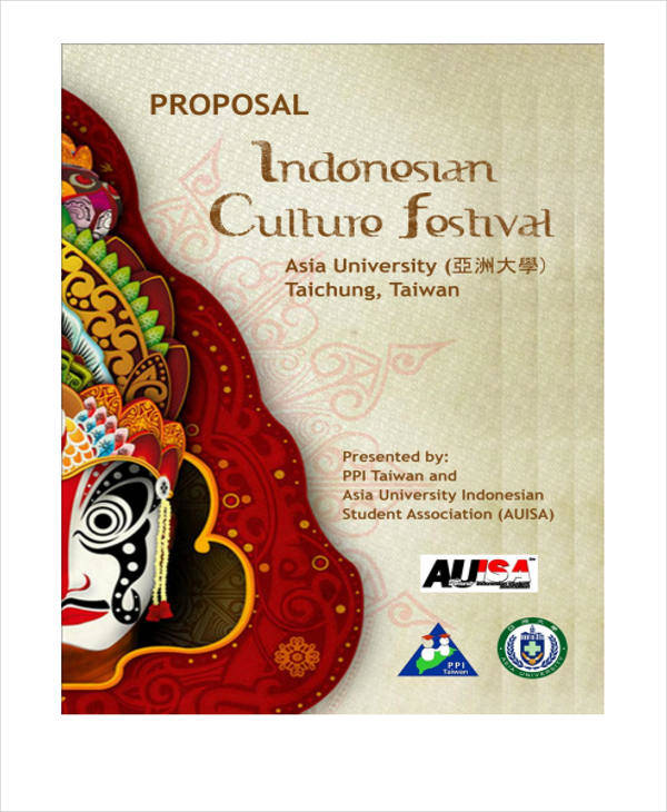 cultural festival event proposal