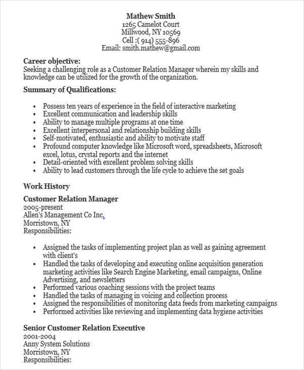 45 manager resume sles