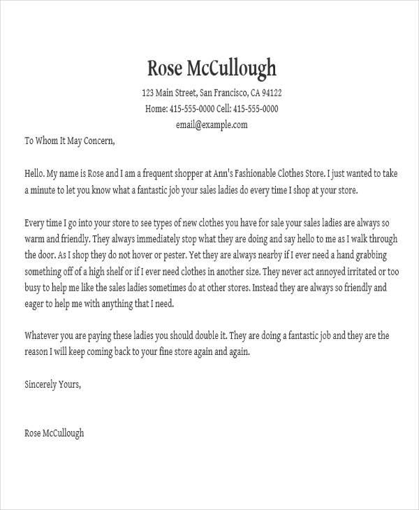 appreciation letter sle for customer service 28 images