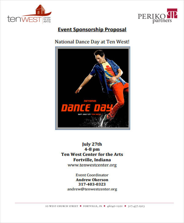 dance competition event proposal1