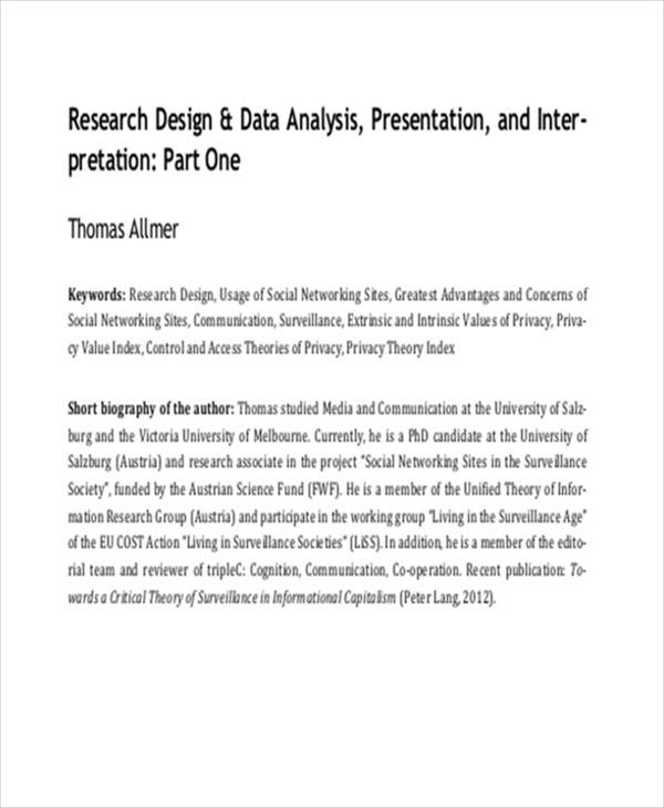 Do data analysis research paper