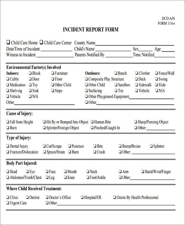 43 Incident Report Samples