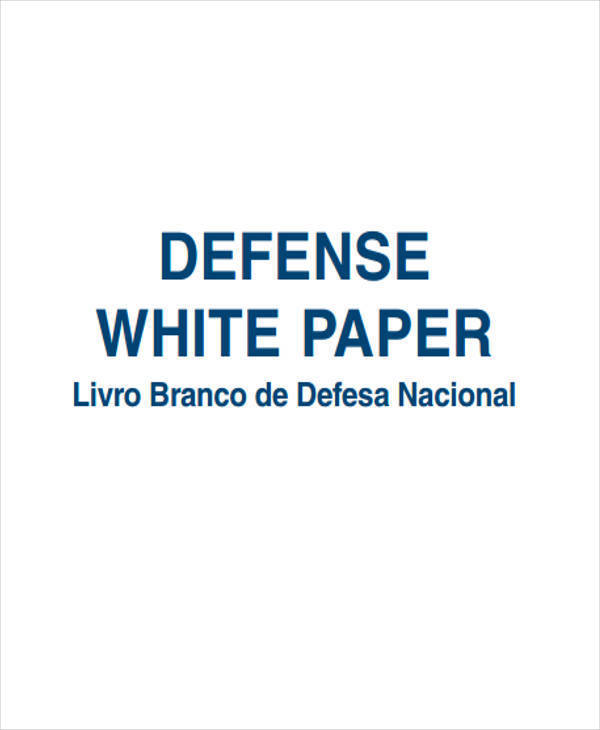 defense white paper example
