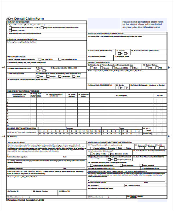 50+ Sample Claim Forms | Sample Templates
