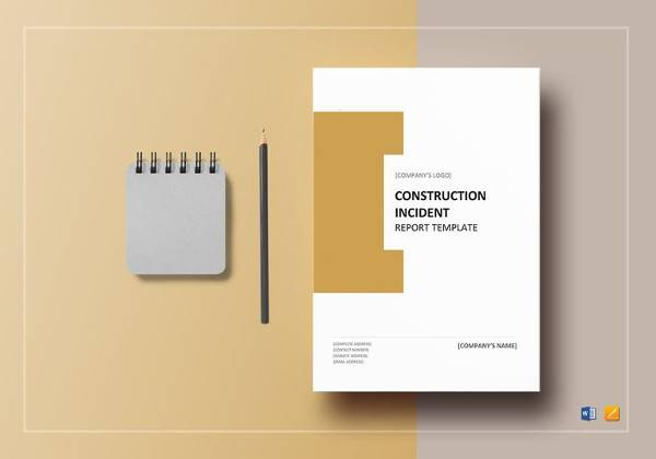 editable construction incident report template