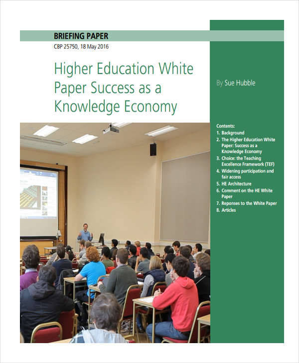 white paper education T he government's higher education white paper – and the legislation that will follow – redraws three fundamental relationships that have defined higher education in the uk for 100 years.