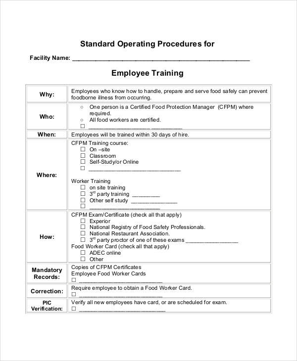 61 sop templates sample templates for Hr sop template