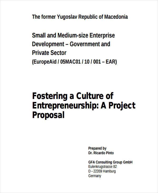 entrepreneurship project example