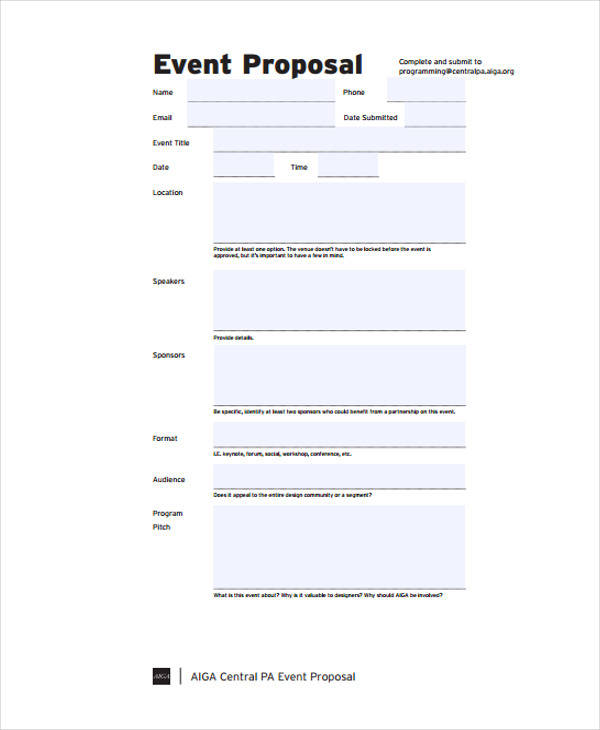 event budget proposal in pdf
