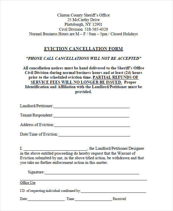 eviction cancellation notice form3