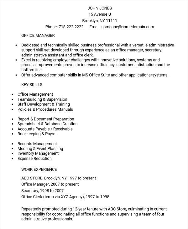 28+ Executive Resumes in Word | Sample Templates