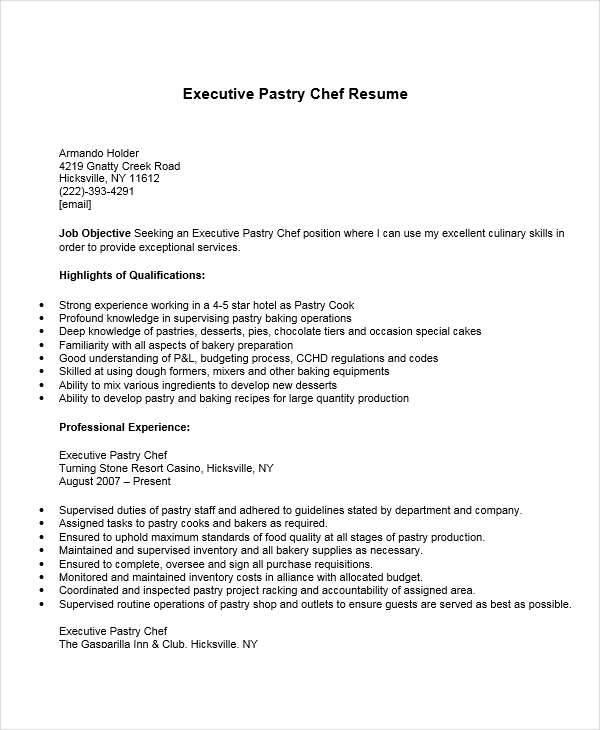 Pastry Chef Cover Letter Example Learnistorg. Personal Chef Cover