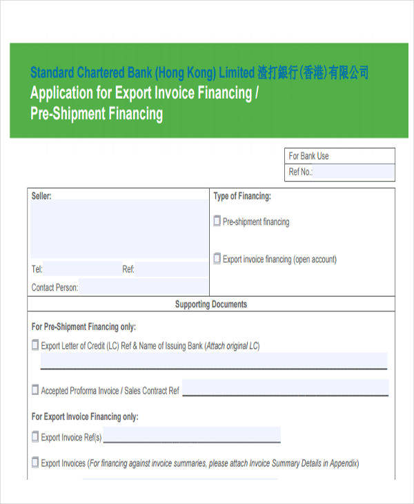 export sales invoice