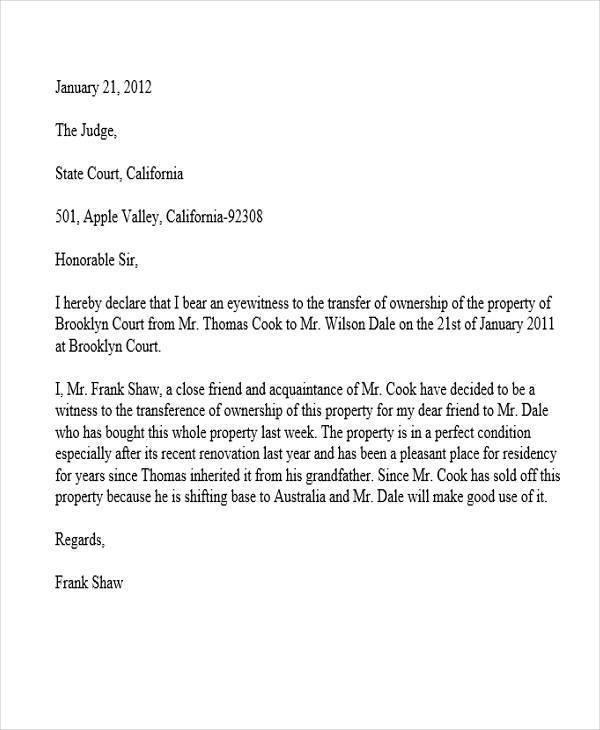 eye witness letter1