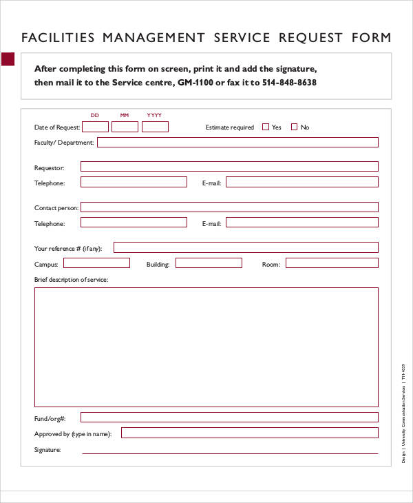 Service Request Form Unum Customer Service Request Form  Sample