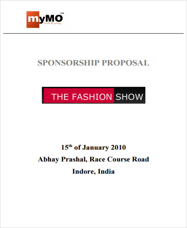 fashion event sponsorship proposal