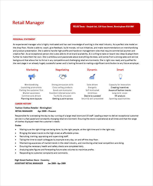 fashion retail manager