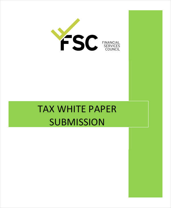 federation tax white paper