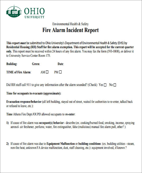 100 Incident Report Writing 1 The
