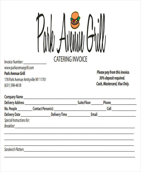 food catering invoice1