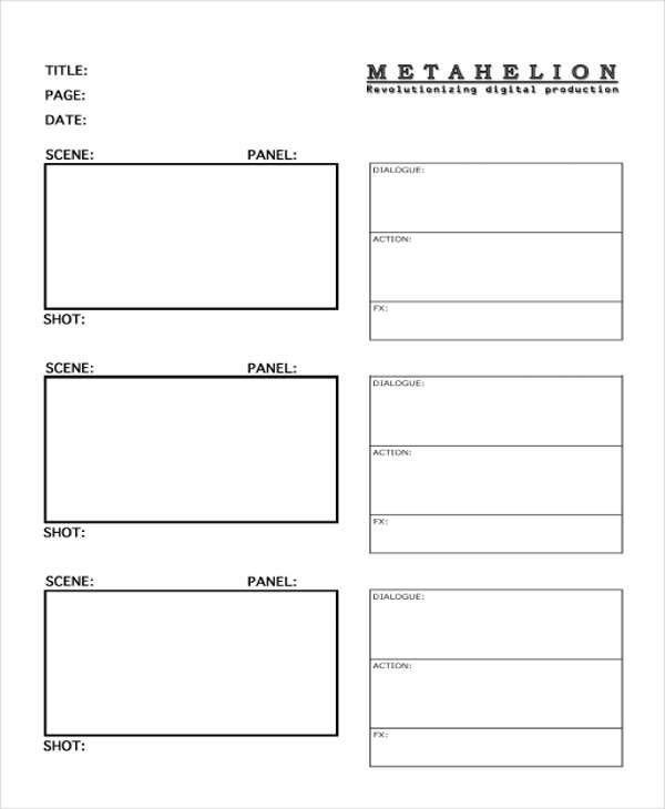 free commercial storyboard