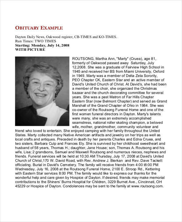 free funeral obituary1