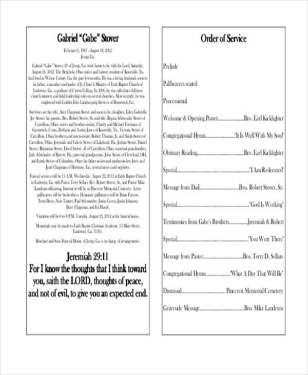 free obituary program3