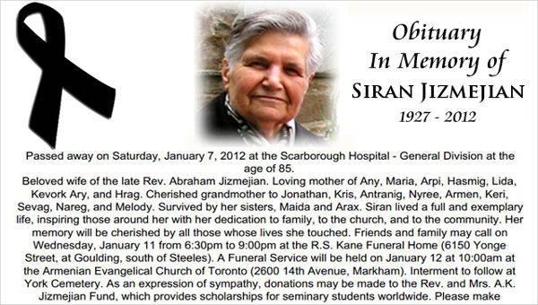 26 free obituary templates