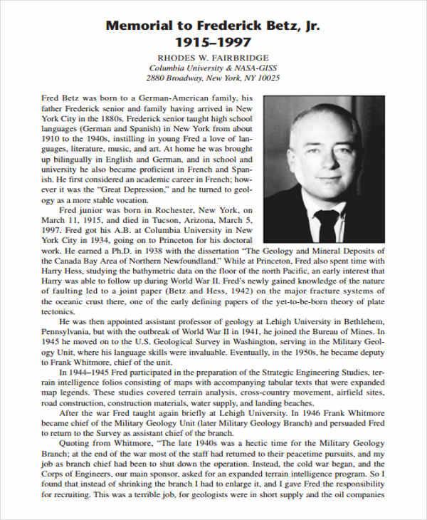 free printable memorial obituary