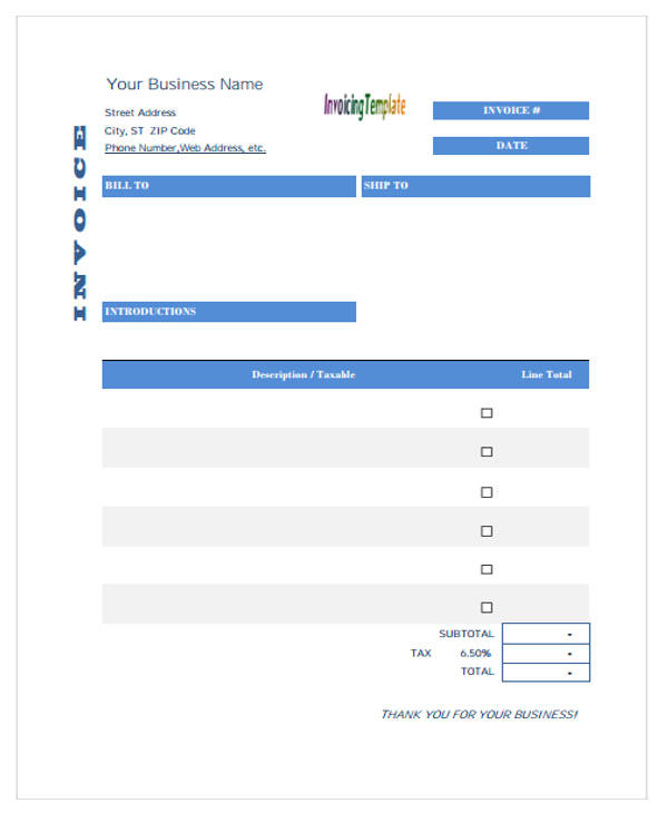 free printable purchase invoice
