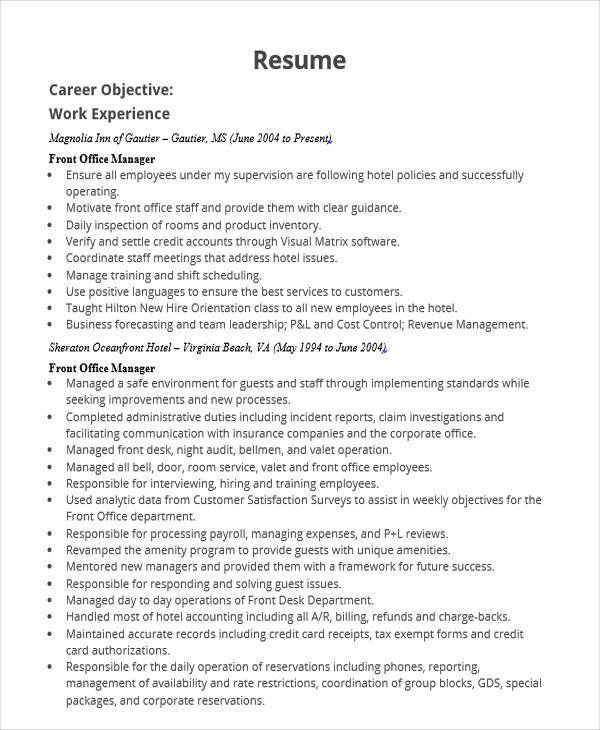 48 manager resume templates
