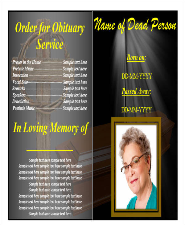 36 Printable Obituary