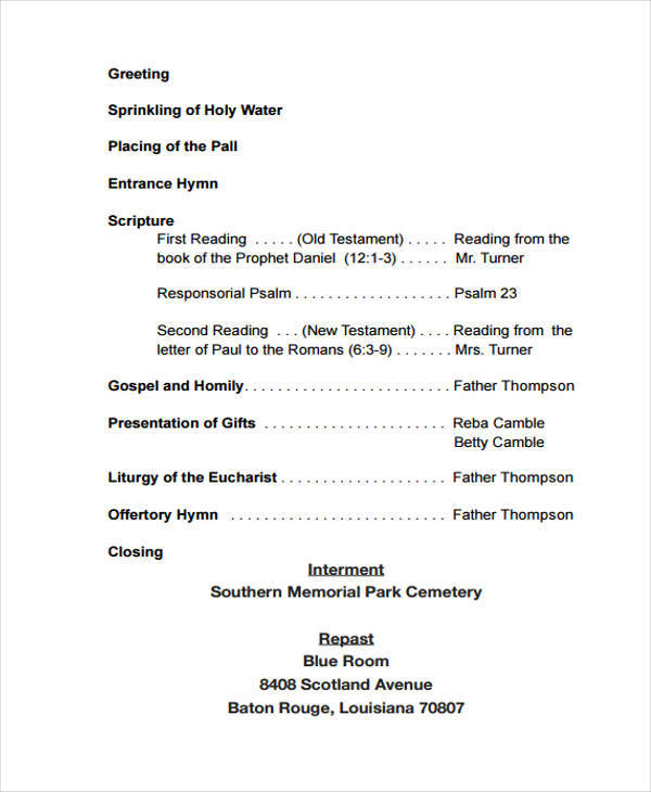 funeral program obituary2