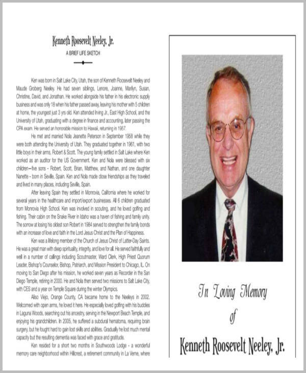 Sample Obituary