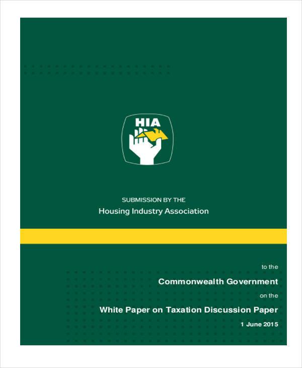 government tax white paper2