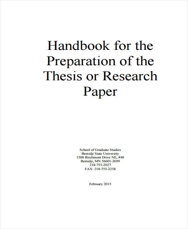 Doctoral thesis papers