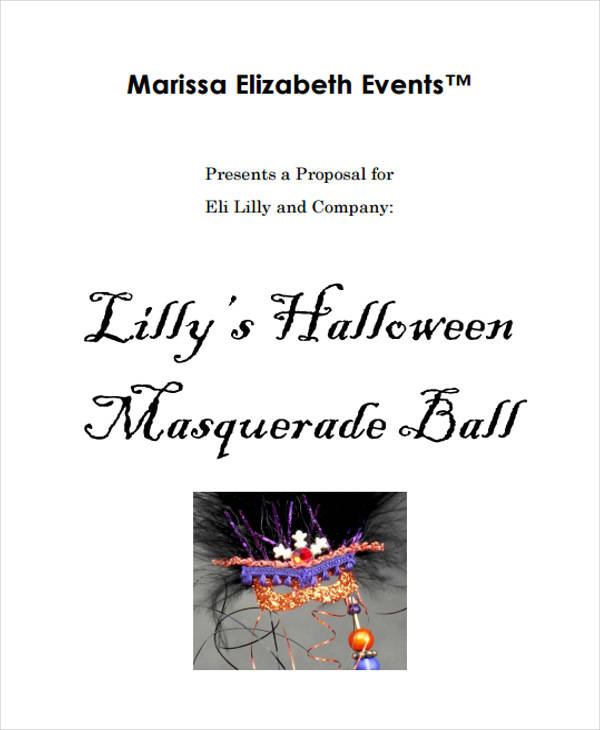 halloween party event proposal