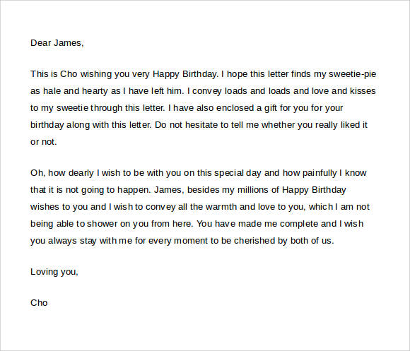 happy birthday love letter for him