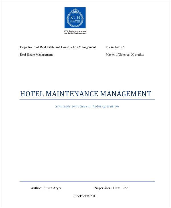 hotel maintenance