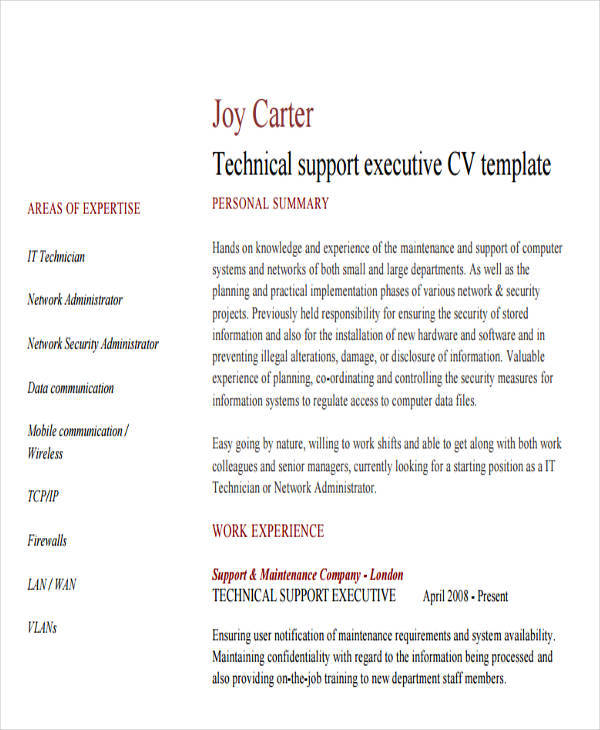 it support executive