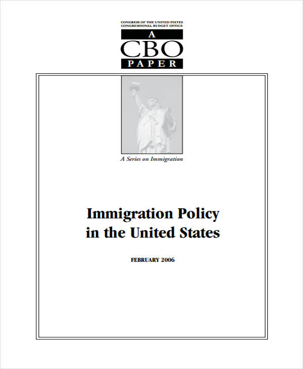 immigration policy paper