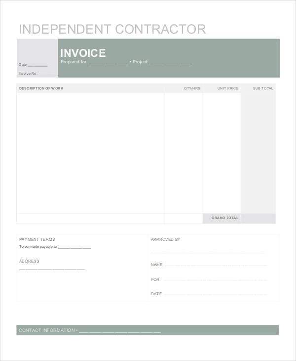 free 33  invoices in ms word