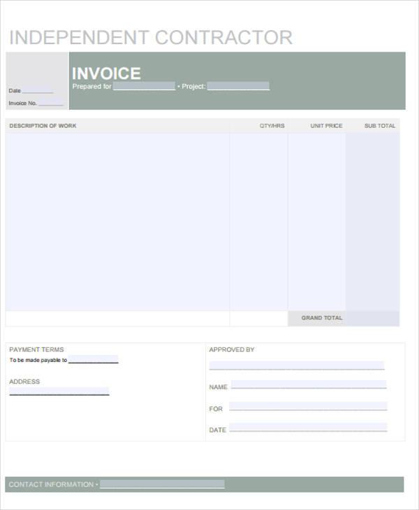 independent contractor receipt3